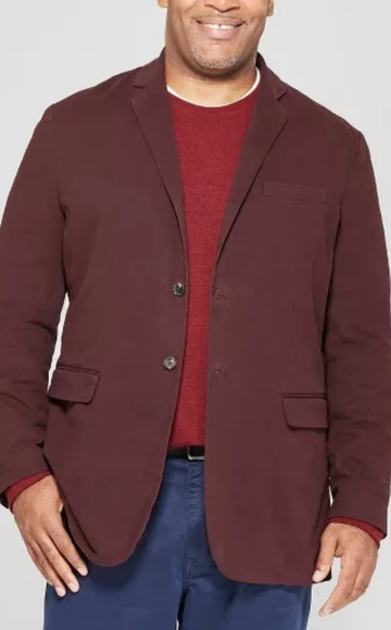 Goodfellow & Co Other - NWOT Big &Tall burgandy goodfellow twill blazer